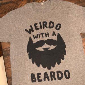 """Next Level Tee xl """"Weird With A Beard"""""""
